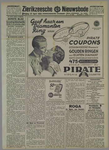 Zierikzeesche Nieuwsbode 1932-04-22