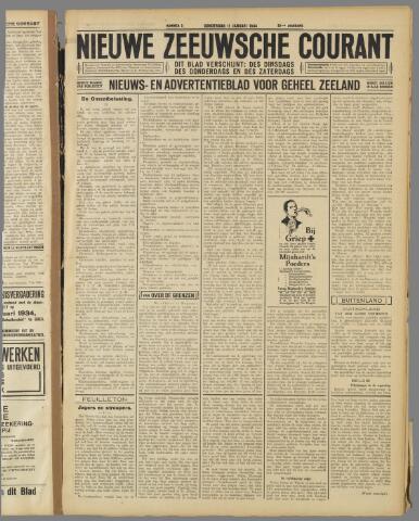 Nieuwe Zeeuwsche Courant 1934-01-11