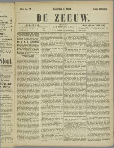 De Zeeuw. Christelijk-historisch nieuwsblad voor Zeeland 1890-03-13