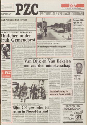 Provinciale Zeeuwse Courant 1986-07-14