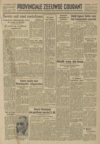 Provinciale Zeeuwse Courant 1948-07-01