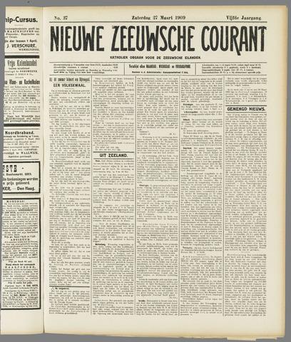 Nieuwe Zeeuwsche Courant 1909-03-27