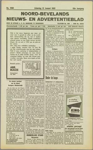 Noord-Bevelands Nieuws- en advertentieblad 1952-01-12