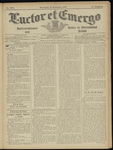 Luctor et Emergo. Antirevolutionair nieuws- en advertentieblad voor Zeeland / Zeeuwsch-Vlaanderen. Orgaan ter verspreiding van de christelijke beginselen in Zeeuwsch-Vlaanderen 1913-12-10