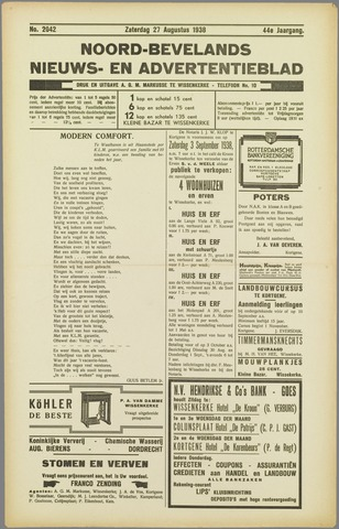 Noord-Bevelands Nieuws- en advertentieblad 1938-08-27