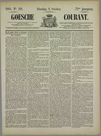 Goessche Courant 1885-10-06