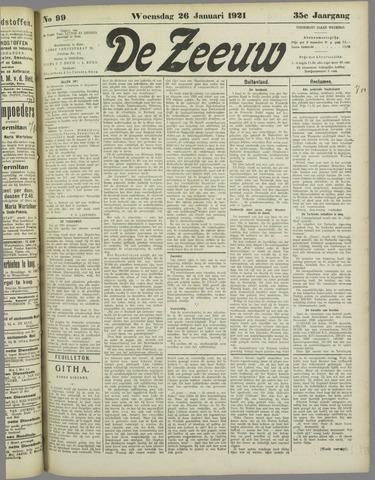 De Zeeuw. Christelijk-historisch nieuwsblad voor Zeeland 1921-01-26
