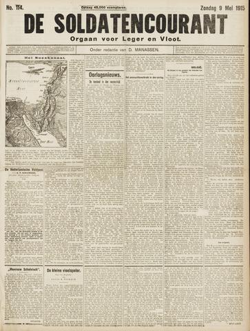 De Soldatencourant. Orgaan voor Leger en Vloot 1915-05-09