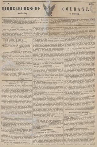 Middelburgsche Courant 1851-01-02