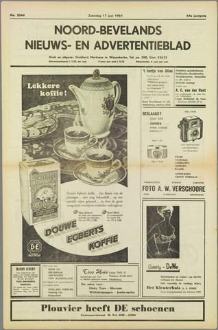 Noord-Bevelands Nieuws- en advertentieblad 1961-06-17