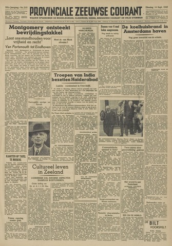 Provinciale Zeeuwse Courant 1948-09-14