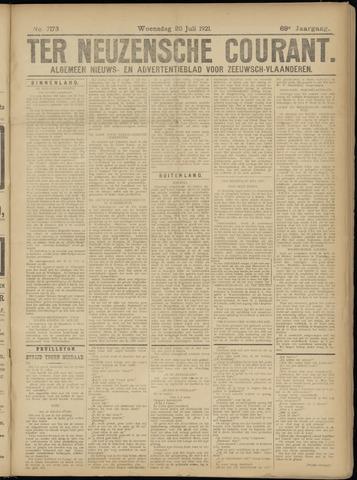 Ter Neuzensche Courant. Algemeen Nieuws- en Advertentieblad voor Zeeuwsch-Vlaanderen / Neuzensche Courant ... (idem) / (Algemeen) nieuws en advertentieblad voor Zeeuwsch-Vlaanderen 1921-07-20