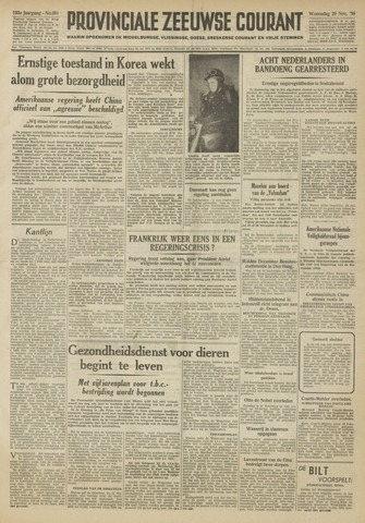 Provinciale Zeeuwse Courant 1950-11-29