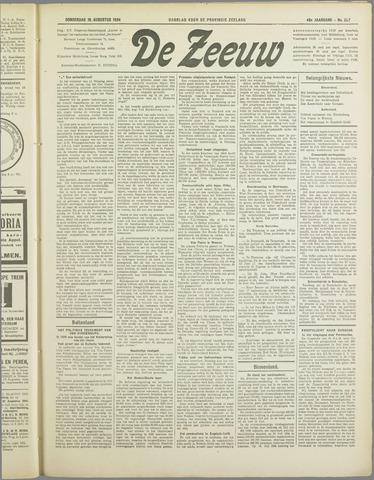 De Zeeuw. Christelijk-historisch nieuwsblad voor Zeeland 1934-08-16