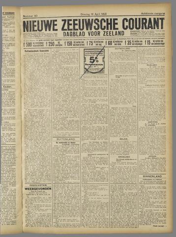 Nieuwe Zeeuwsche Courant 1922-04-18