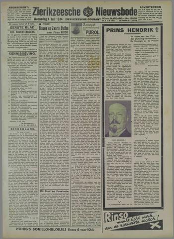 Zierikzeesche Nieuwsbode 1934-07-04