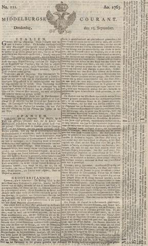 Middelburgsche Courant 1763-09-15