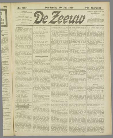 De Zeeuw. Christelijk-historisch nieuwsblad voor Zeeland 1916-07-20