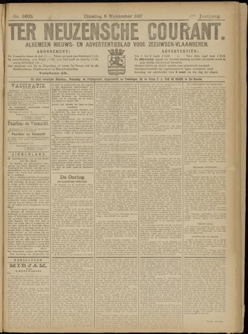 Ter Neuzensche Courant. Algemeen Nieuws- en Advertentieblad voor Zeeuwsch-Vlaanderen / Neuzensche Courant ... (idem) / (Algemeen) nieuws en advertentieblad voor Zeeuwsch-Vlaanderen 1917-11-06