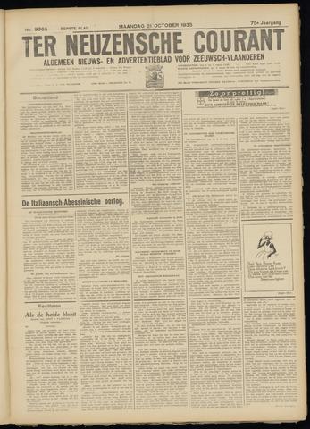 Ter Neuzensche Courant. Algemeen Nieuws- en Advertentieblad voor Zeeuwsch-Vlaanderen / Neuzensche Courant ... (idem) / (Algemeen) nieuws en advertentieblad voor Zeeuwsch-Vlaanderen 1935-10-21