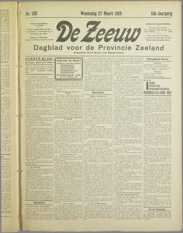 De Zeeuw. Christelijk-historisch nieuwsblad voor Zeeland 1929-03-27