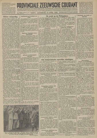 Provinciale Zeeuwse Courant 1942-04-18