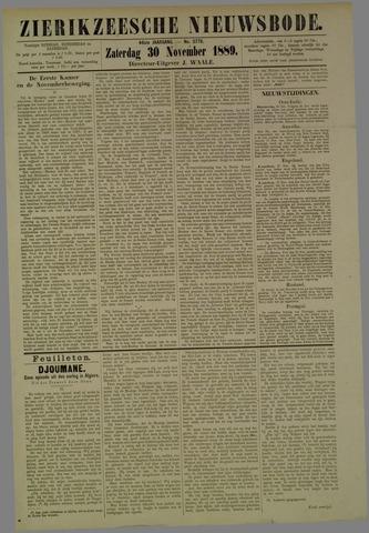 Zierikzeesche Nieuwsbode 1889-11-30