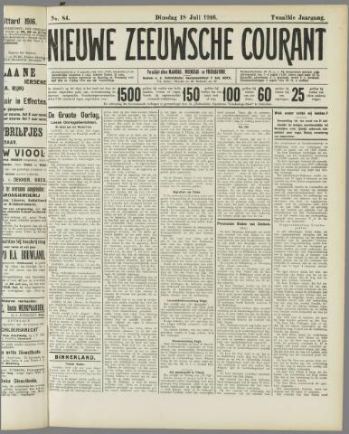 Nieuwe Zeeuwsche Courant 1916-07-18