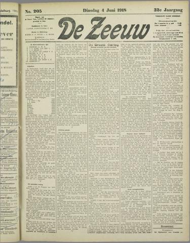 De Zeeuw. Christelijk-historisch nieuwsblad voor Zeeland 1918-06-04