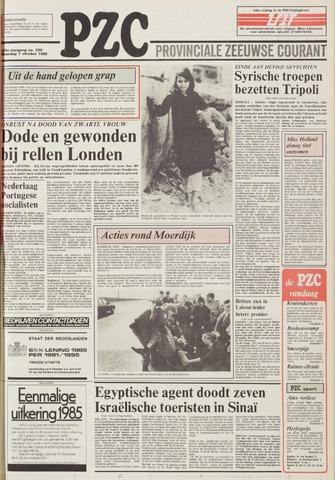 Provinciale Zeeuwse Courant 1985-10-07