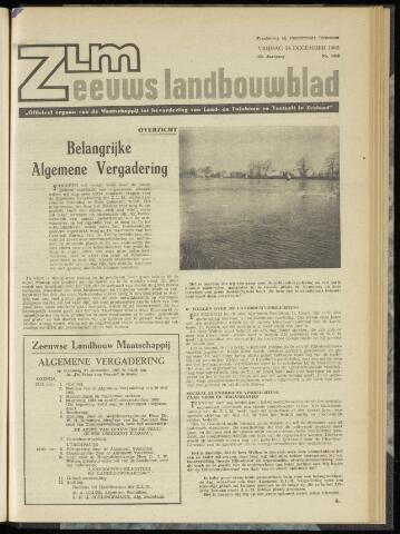 Zeeuwsch landbouwblad ... ZLM land- en tuinbouwblad 1962-12-14