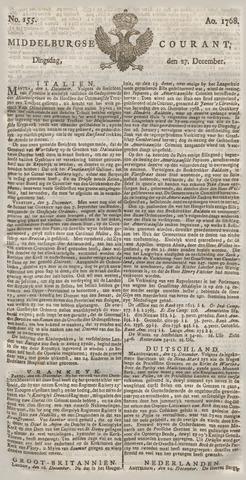 Middelburgsche Courant 1768-12-27