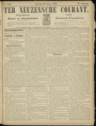 Ter Neuzensche Courant. Algemeen Nieuws- en Advertentieblad voor Zeeuwsch-Vlaanderen / Neuzensche Courant ... (idem) / (Algemeen) nieuws en advertentieblad voor Zeeuwsch-Vlaanderen 1887-10-29