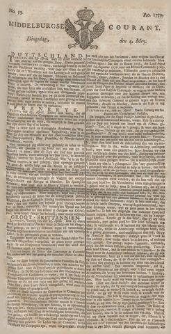 Middelburgsche Courant 1779-05-04