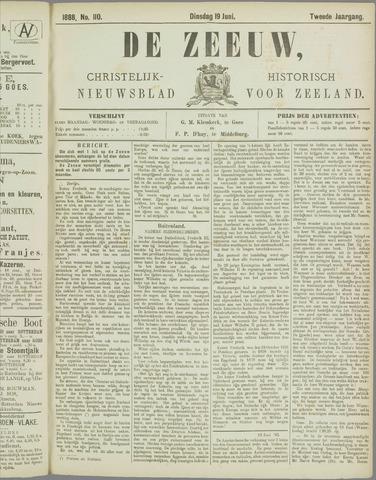 De Zeeuw. Christelijk-historisch nieuwsblad voor Zeeland 1888-06-19