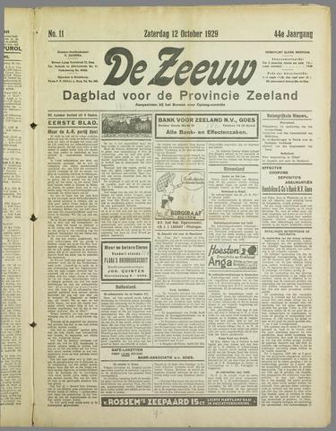 De Zeeuw. Christelijk-historisch nieuwsblad voor Zeeland 1929-10-12