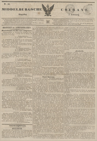 Middelburgsche Courant 1843-02-07