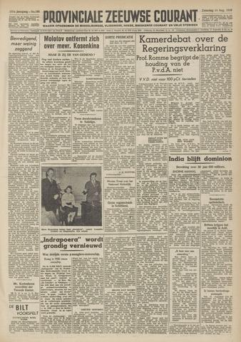 Provinciale Zeeuwse Courant 1948-08-14