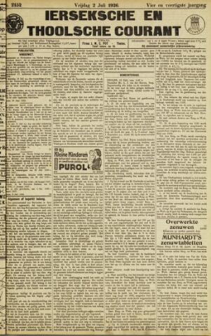 Ierseksche en Thoolsche Courant 1926-07-02