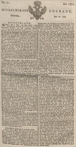 Middelburgsche Courant 1771-07-20