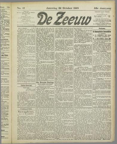 De Zeeuw. Christelijk-historisch nieuwsblad voor Zeeland 1918-10-19