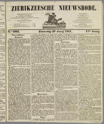 Zierikzeesche Nieuwsbode 1861-06-29