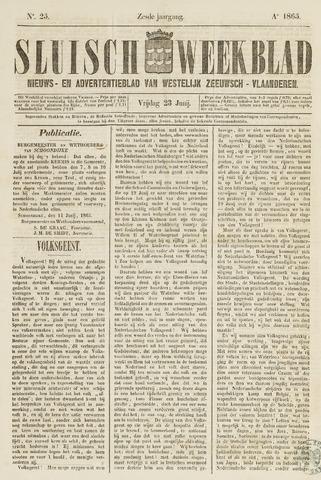Sluisch Weekblad. Nieuws- en advertentieblad voor Westelijk Zeeuwsch-Vlaanderen 1865-06-23