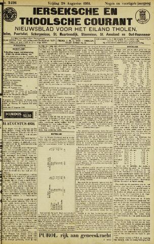 Ierseksche en Thoolsche Courant 1931-08-28