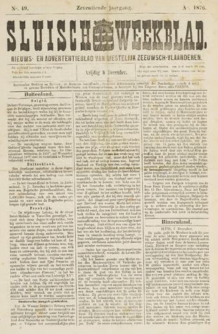 Sluisch Weekblad. Nieuws- en advertentieblad voor Westelijk Zeeuwsch-Vlaanderen 1876-12-08