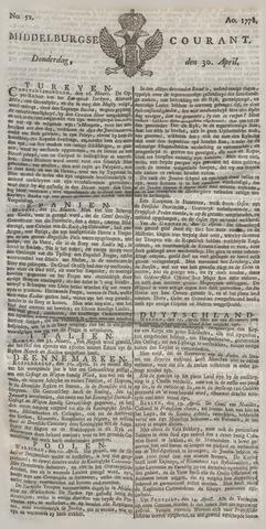 Middelburgsche Courant 1778-04-30