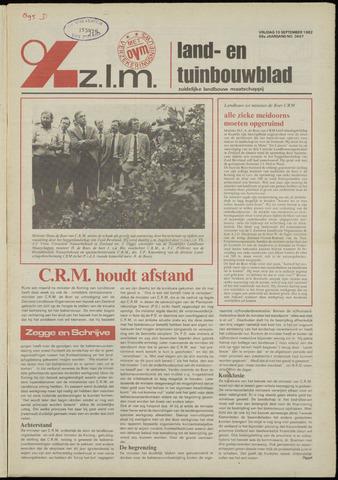 Zeeuwsch landbouwblad ... ZLM land- en tuinbouwblad 1982-09-10