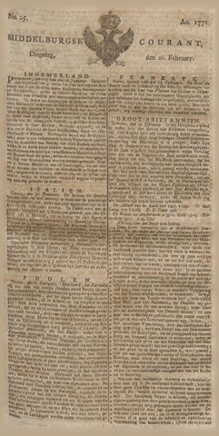 Middelburgsche Courant 1771-02-26
