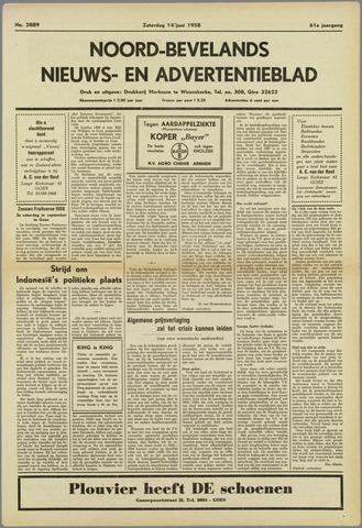 Noord-Bevelands Nieuws- en advertentieblad 1958-06-14