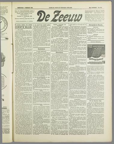 De Zeeuw. Christelijk-historisch nieuwsblad voor Zeeland 1934-02-01